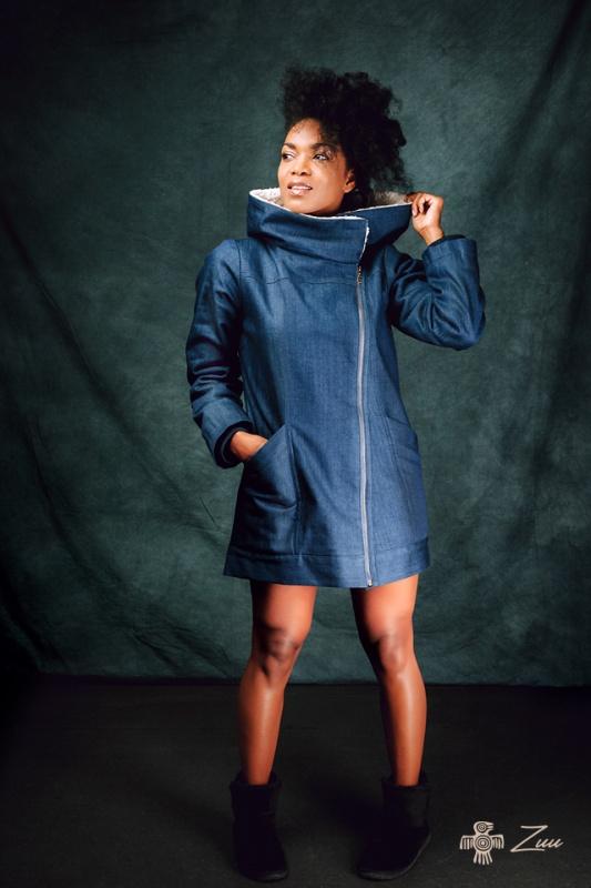 Džínový kabátek s kožíškem